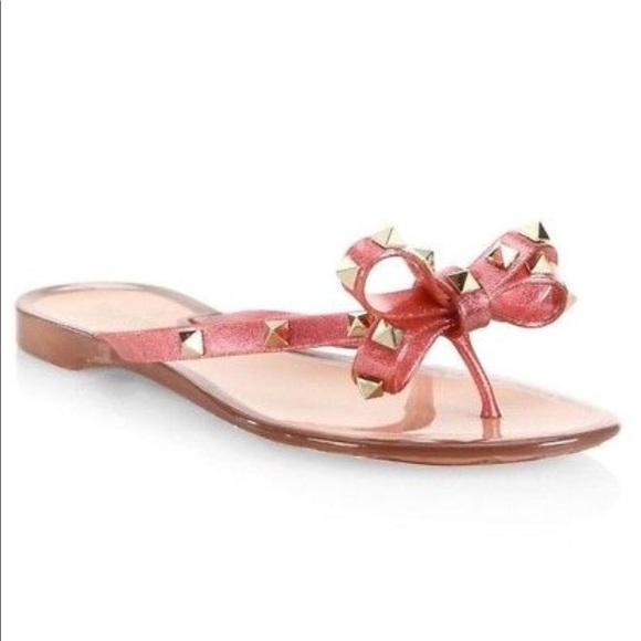 pink valentino jelly sandals